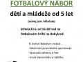 Nový termín fotbalový nábor
